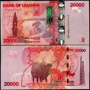 UGANDA 20,000 20000 SHILLINGS 2017 P 53 UNC