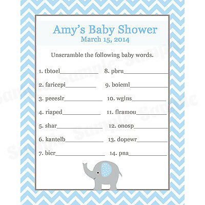 Little Prince Baby Shower 24 Baby Shower Scratch Off Game Cards