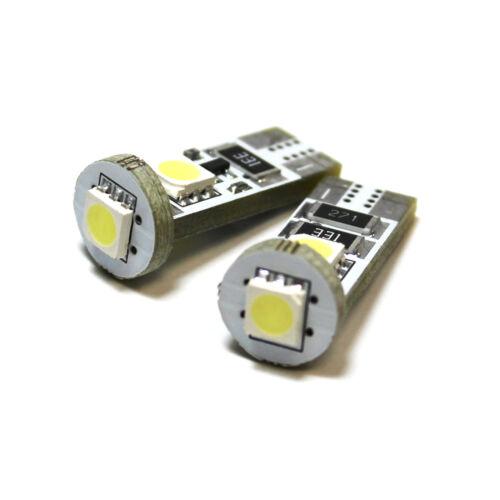 Saab 9-3 YS3F 3SMD LED Error Free Canbus Side Light Beam Bulbs Pair Upgrade