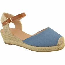 0ed40e07b87 item 4 Womens Ladies Low Wedge Heel Summer Sandals Strappy Espadrilles Shoes  Size New -Womens Ladies Low Wedge Heel Summer Sandals Strappy Espadrilles  Shoes ...