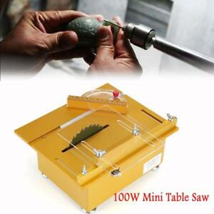 100w Electric Mini Table Saw Aluminum Diy Woodworking Bench Saw