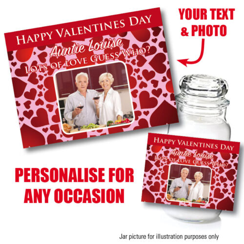 PERSONALISED VALENTINES BIRTHDAY STICKER LABEL WIFE YANKEE INSPIRED CANDLE 135