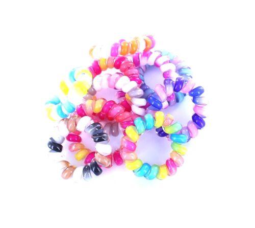 Haarschmuck Telefonkabel Spiralgummi Kinderhaargummi Haargummi Regenbogen