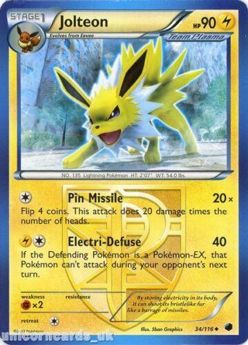 Jolteon 34//116 LBD Uncommon Mint Pokemon Card