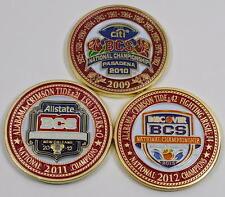 2009-2011-2012 ALABAMA CRIMSON TIDE FOOTBALL NATIONAL CHAMPIONSHIP 3 COIN SET