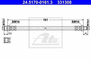 Bremsschlauch ATE 24.5170-0161.3