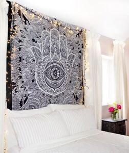 Mano-de-Fatima-Hamsa-Tapiz-Colgante-Mandala-Indio-Tiro-Colcha-Decoracion-Arte
