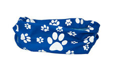 REFLECTIVE * BLUE * PAW & BONE PRINT DOG SCARF - RUFFNEK® scarf/bandana for dogs