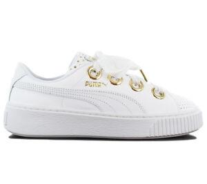 b96143e2 Details about Puma Platform Kiss Ath Lux Sneaker Women's Shoes White  Leather 366704-01