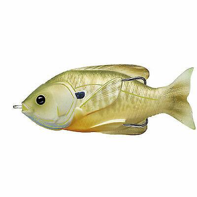 Live Target Sunfish Hollow Body SFH90T557 Green Bronze Pumpkinseed Topwater Lure