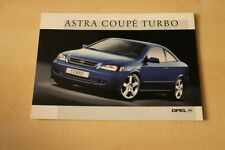 69310) Opel Astra Coupe Turbo Prospekt 05/2000