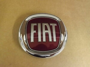 fiat 500 front red fiat badge logo p n 51804366 ebay. Black Bedroom Furniture Sets. Home Design Ideas