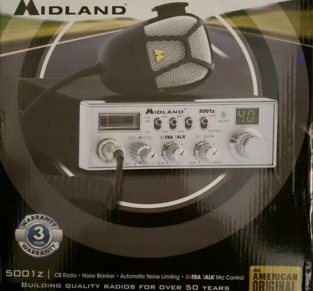 deenri8 New Midland 5001Z CB Radio 40 Channels w/ Microphone NIB Free Shipping