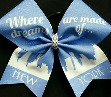 Cheer Bow - New York / Where Dreams are made of  - Hair Bows