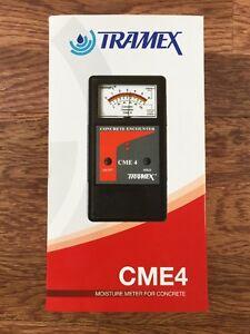 Tramex Concrete Moisture Meter Cme4 Ebay