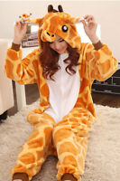 Mens Or Womens Giraffe Adult Kigurumi One Piece Halloween Costume Animal Pajama