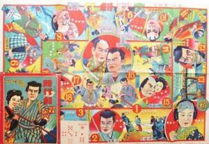 Sugoroku-Tabla-Juego-Comic-Estilo-Historia-Drama-Brillante-Colores-Buen-Estado