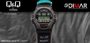 Vintage Watch Q&Q The Light. 9924, Wr 5m. Lap Memory 10. (M 100 008)