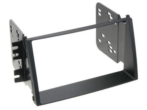 Para kia soul 1 auto radio diafragma instalación montaje marco doble DIN 2-din negro