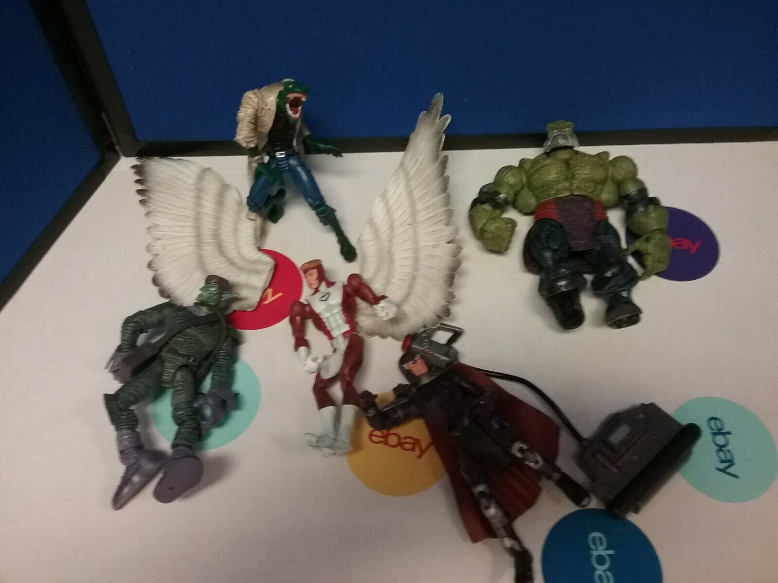 Marvel Legends Lot of 5 Lizard Goblin Angel Maestro Magneto Magneto Magneto toybiz Loose 7be6d7