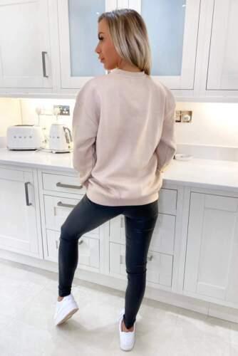 Women Paris Slogan Printed Sweatshirt Ladies Oversized Fashion Jumper Blouse Top