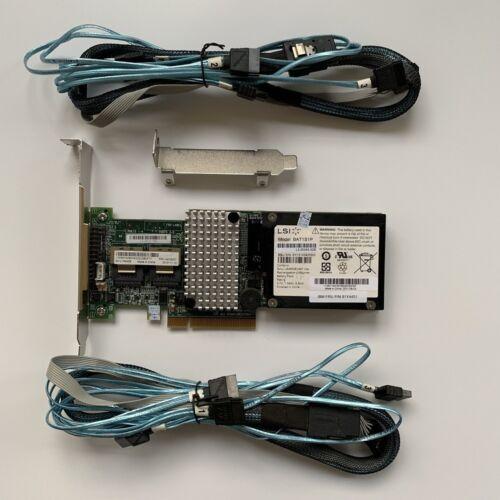 IBM M5015 LSI 2108 Controller RAID 5  512MB 6G PCIe x8+BBU08 2PCS 8087 SATA