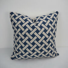 """18""""x45cm Navy Printed 007 Cotton Linen Decor Cushion cover Pillowcase"""