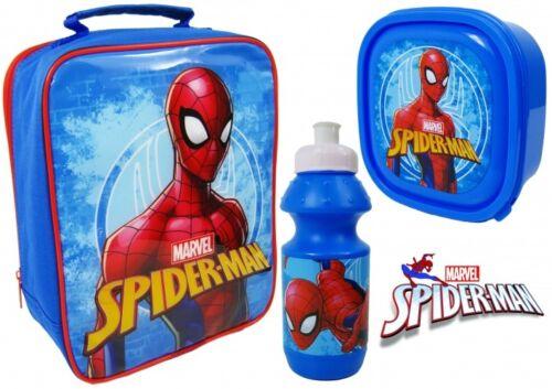 Spiderman 3 Piece Lunch Set Lunch Bag  Sandwich Box  Sports Bottle Kids GIFT