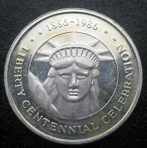 One Troy Ounce 999 Fine Silver Coin Liberty Centennial