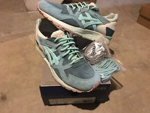 wholesale dealer a0ac8 db886 Details about Kith Ronnie Fieg Asics GLV 10.5 Sage Brand New Salmon Volcano