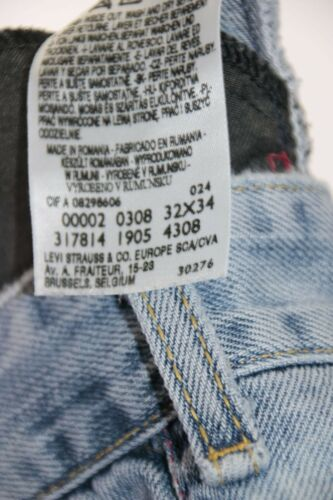 F2148 L34 Ripped cod Levi's 308 W32 Tg46 Destroy Jean Engineered D'occasion zqBzXP6w
