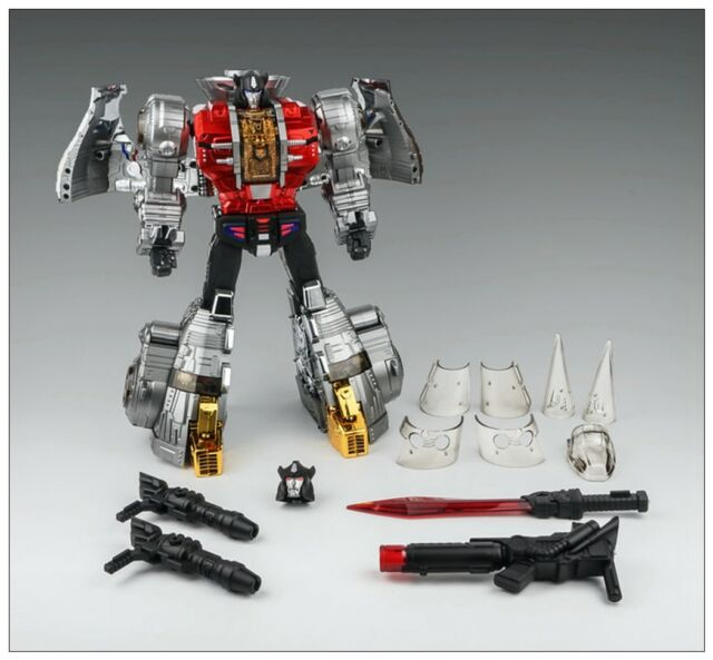 Transformers TOY GP HQ-02R alloy plating slag MP Iron Dinobots instock