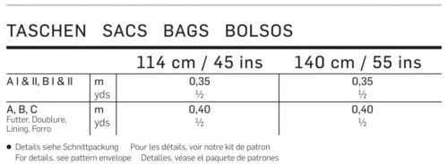 Burda fácil Accesorios Costura Patrón 7264 bolsas de mano PATCHWORK Burda - 7264