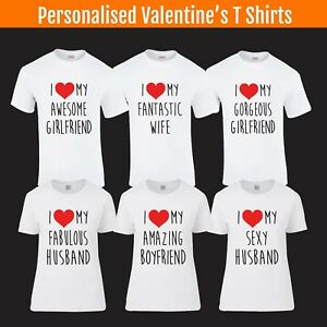Image Is Loading I Love My T Shirt Valentines Day Boyfriend