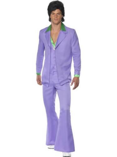 MENS LAVENDER 1970/'s SUIT FANCY DRESS COSTUME JACKET GROOVY PURPLE 70s OUTFIT