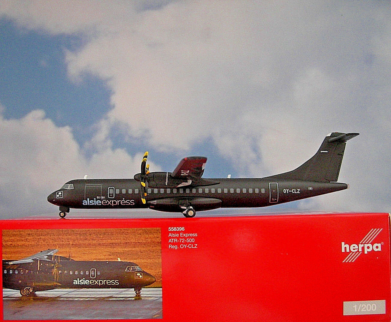 Herpa Wings 1 200 ATR 72-500 alsieexpress OY-clz 558396