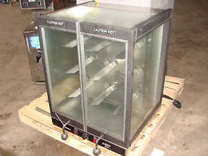 034-OLD-HICKORY-034-BAR-B-Q-BBQ-COOK-CHICKEN-ROTISSERIE-OVEN-CLEAR-DISPLAY-CASE