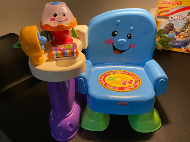Stol, Fisher-Price , aktivitetslegetøj