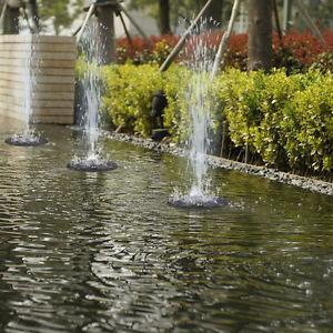 Solar Panel Ed Submersible Floating Fountain Garden Pool