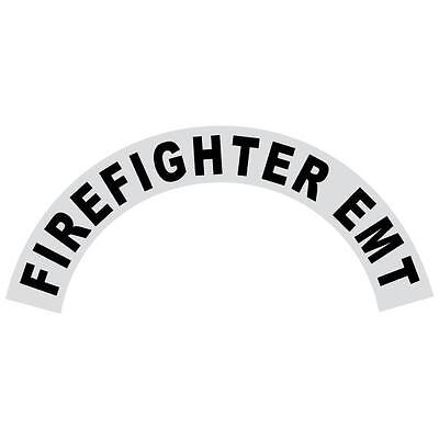 Firefighter Extended Helmet Crescent Reflective Black Decal with Scramble