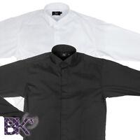 "Formal Wing Collar Shirt, Formal Kilt Shirt, Black or White, Sizes from 15""-18"""