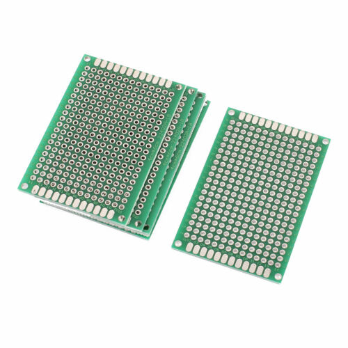 7 Stk 4 x 6CM Grün Doppelseitig Prototyp Universal PCB Druck Leiterplatte