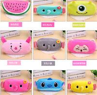 Cute Soft Plush Pencil Pen Case Pouch Makeup Cosmetic Case Brush Bag Zipper Bag