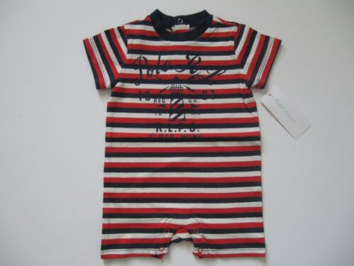 RALPH LAUREN Baby Boy/'s Graphic Ringer Shortall 3M /& 9M
