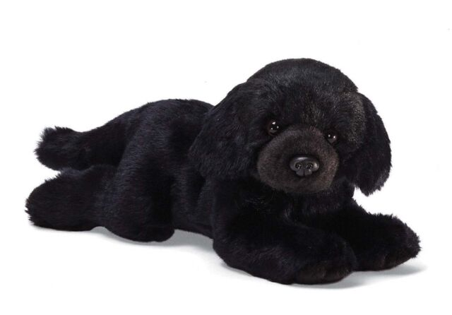 Gund Black Labrador Dog Stuffed 14 Inch Animal Plush Toy With Tags