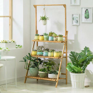 Bamboo-Wood-Plant-Stand-3-Tier-Vertical-Multiple-Pot-Flower-Planter-Rack-Corner