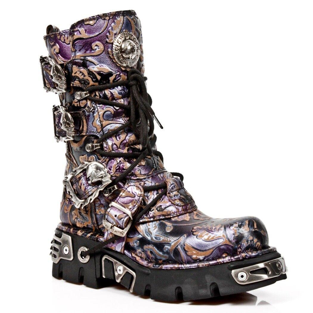 Newrock Nr M.391 S5 Flor púrpura-New Rock botas-Unisex