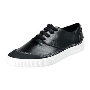 Boss-De-Hugo-Zapatillas-Cero-Tenn-44-Nuevo-Cuero-Zapatos-10-11-Derby-Chucks
