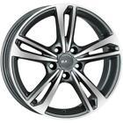 Jantes roues Mak Emblema Seat Leon 6x15 5x112 Gun Met-mirror Face