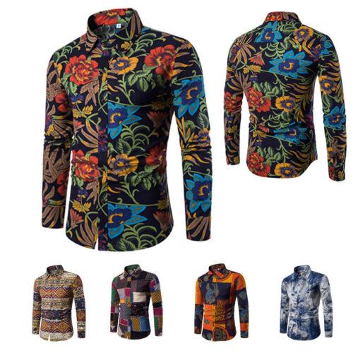 Mens Hot Long Sleeve Shirt Casual Slim Soft Fit Stylish Dress Shirts Tops